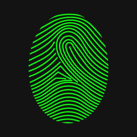 Green fingerprint. Thumbprint. Vector illustration Illustration