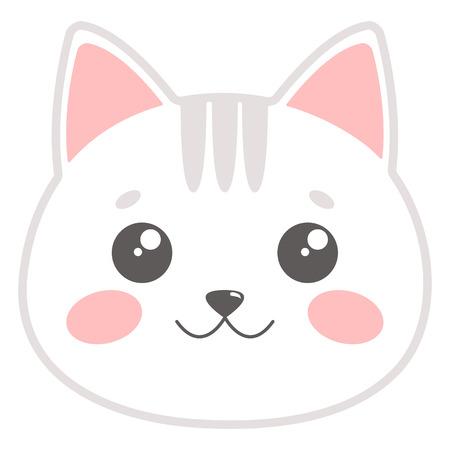 Cute cat face. Vector illustration Stock Vector - 93620678
