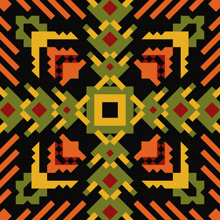 Tribal Vector Seamless Pattern. Aztec Abstract Geometric Art ...