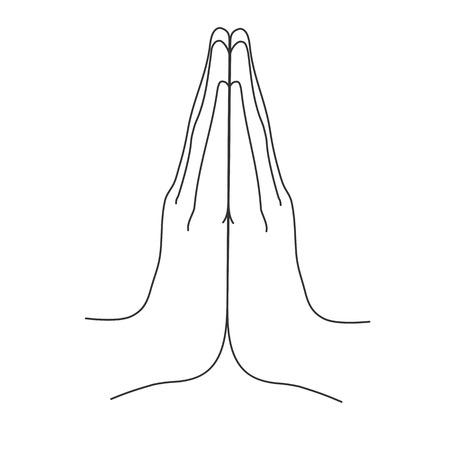 Mudra. Namaste. Hands vector illustration