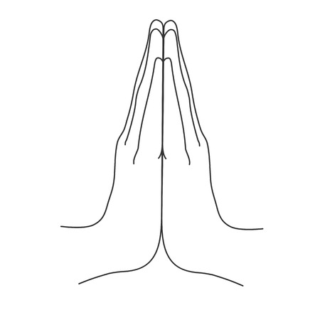 Mudra. Namaste. Hands vector illustration
