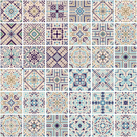 Tile pattern mosaic design Vector illustration.