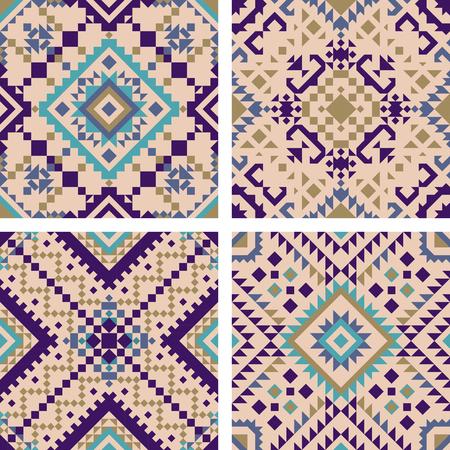 Tile pattern mosaic design. Vector illustration.