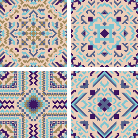 Tile pattern mosaic design. Vector illustration.