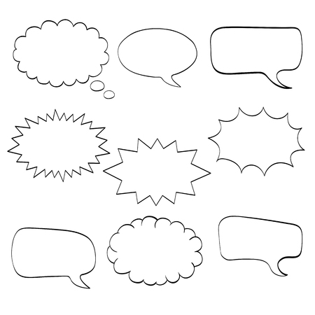 Comics cartoon speech bubbles