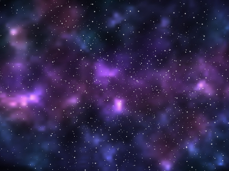 Dark night sky with stars. Space background. Vector illustration