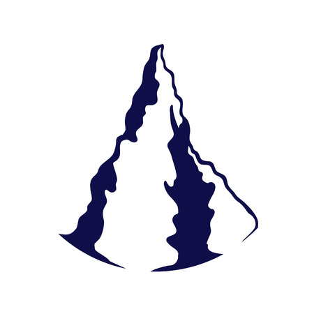 Mountain silhouette isolated on the white background. Иллюстрация