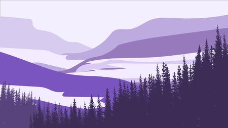 Dark forest. Abstract landscape background, vector illustration. Illustration