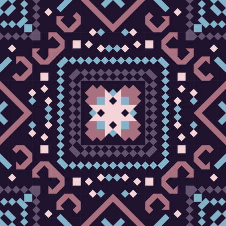 Tribal vector seamless pattern. Aztec fancy abstract geometric art print. Ethnic hipster backdrop. Wallpaper, cloth design, fabric, paper, cover, textile design template.