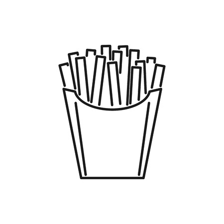 French fries icon isolated on white background. Vector illustration