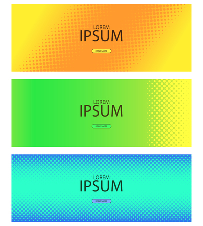 Abstract halftone pattern with lending and social network covers. Vector illustration