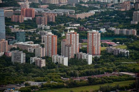 A birds eye view of city