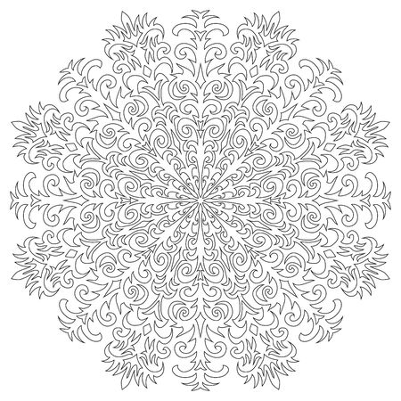 Snowflake on a white background. Vector illustration Stock Illustratie