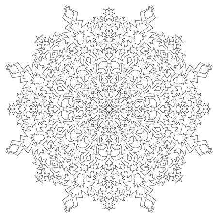 Snowflake on a white background. Vector illustration Illustration
