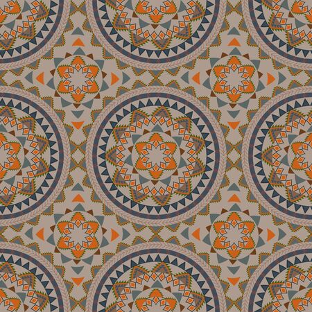 Tribal ethnic vintage seamless pattern. Vector illustration Illustration