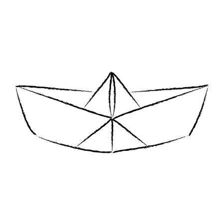 Paper ship. Sketch in vector 矢量图像