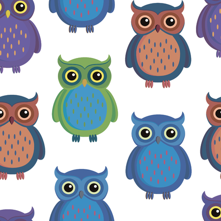 Seamless pattern with cartoon style 일러스트