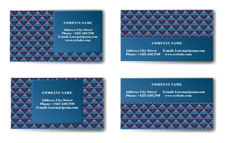 Business Card with geometric pattern. Vector illustration.