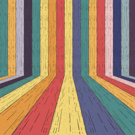 Colorful wood plank background. Vector illustration Archivio Fotografico - 125293743