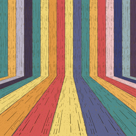 Colorful wood plank background. Vector illustration