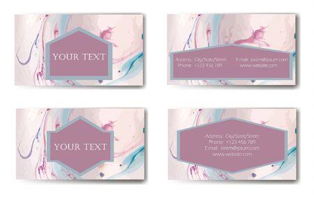 Business Card. Vector illustration. Ink marble texture. Illusztráció