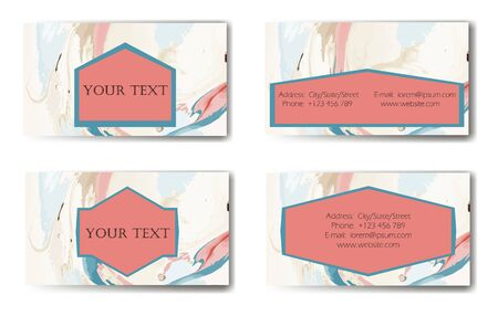 Business Card. Vector illustration. Ink marble texture. Illustration