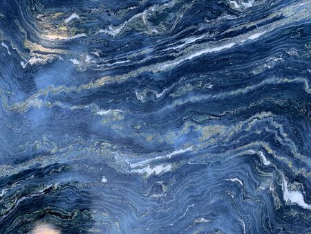 Blue dark marble texture for background Stock Photo