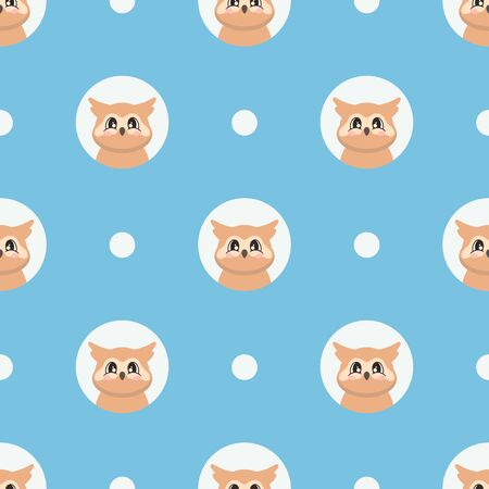 Seamless pattern with a cute owl in cartoon style. Vector illustration