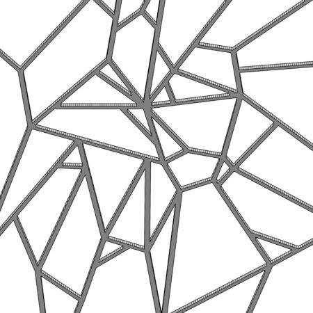 Broken grass texture on cartoon stile. Vector illustration