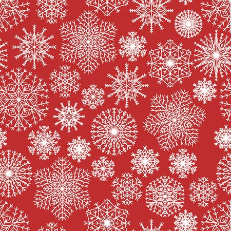 Simple pattern with snowflakes. Vector illustration