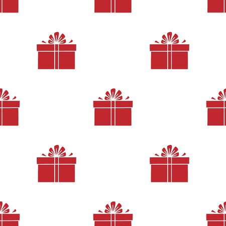 Seamless pattern with gift boxes. Vector illustration