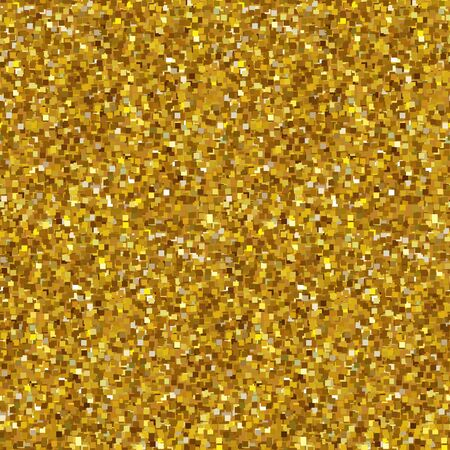 Golden sparkles seamless background. Confetti Vector illustration 向量圖像