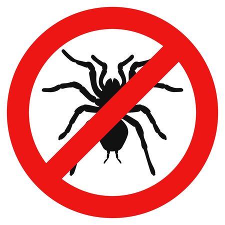 No spider sign. Vector illustration Ilustracja