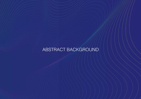 Abstract background with waves. Vector illustration
