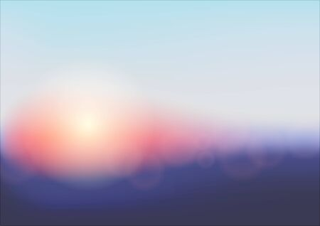 Colorful abstract background with bokeh effect. Sunset. Vector illustration