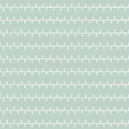Simple hand-drawn pattern with line ornament. Vector illustration Ilustração
