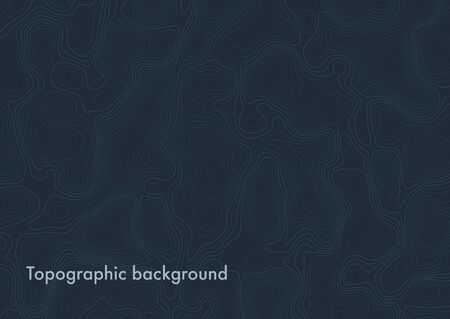 Abstract background simulating a topographic map. Color contours. Vector illustration