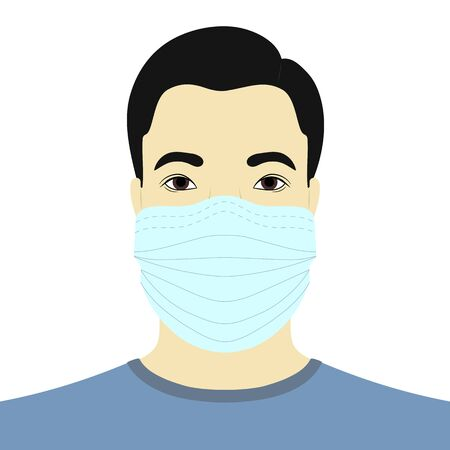 medical mask isolated on white background. Vector illustration