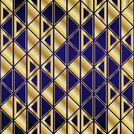 Golden seamless geometric premium pattern. Vector illustration for wrapping paper, fabric, background Ilustracja