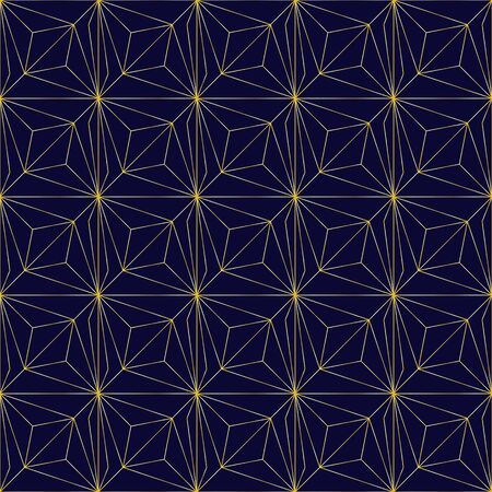Golden seamless geometric premium pattern. Vector illustration for wrapping paper, fabric, background Illustration