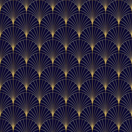 Golden seamless geometric premium pattern. Vector illustration for wrapping paper, fabric, background