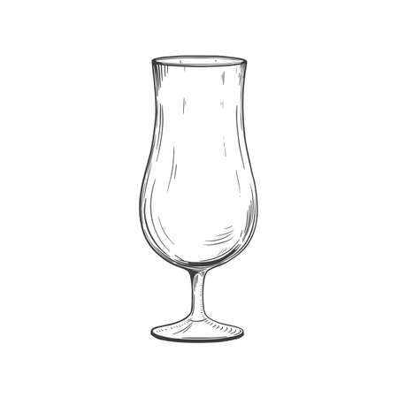 Hand drawn cocktail glass. Vector illustration isolated on white background Vector Illustratie
