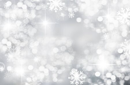 Abstract, background, beautiful, silver background, blurred, bokeh .bright ,map ,Christmas, decoration, design ,bright, light, sparkle, glow, gray ,holiday, illustration ,cheerful ,new, new year, luminosity, round spot, season, shiny ,Silver, snow ,snowflake, holiday ,wall paper, white ,white snowflakes, winter .winter Christmas background, year Imagens - 132172590
