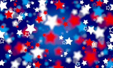 Abstract, American flag colors, background, blue, spot, blurred, bright, bokeh background, celebration, color, colorful, design, figure, festive, holiday, invitation, light, many stars, bokeh, new, pattern, red, shiny ,sloppy, star, stars, oscillating, white