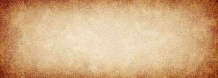 Old brown grunge background rough paper texture with vignette Banque d'images