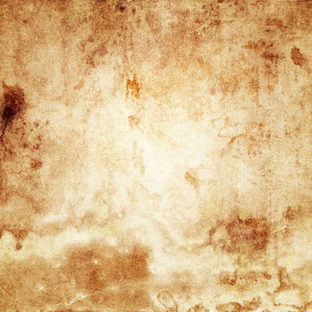 An old stained blank sheet of beige paper with spots