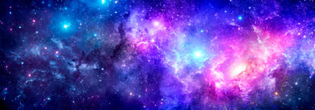 Deep Space and Stars in the Universe for background and text