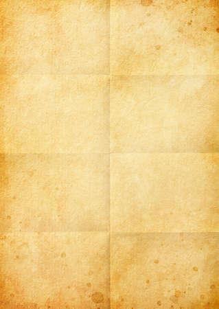 Folded brown vintage paper background texture