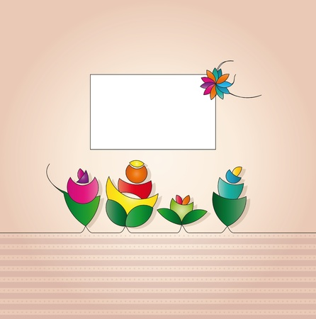 label for greeting card  Illustration