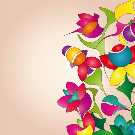background with funny flowers